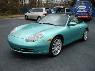 2000 Porsche 911 Carrera 4 All Wheel Drive Navi Cabriolet Rare Green Met photo