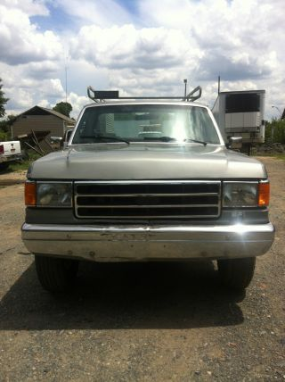 1990 Ford F250 Service Truck 5.  0l Mobile Truck photo