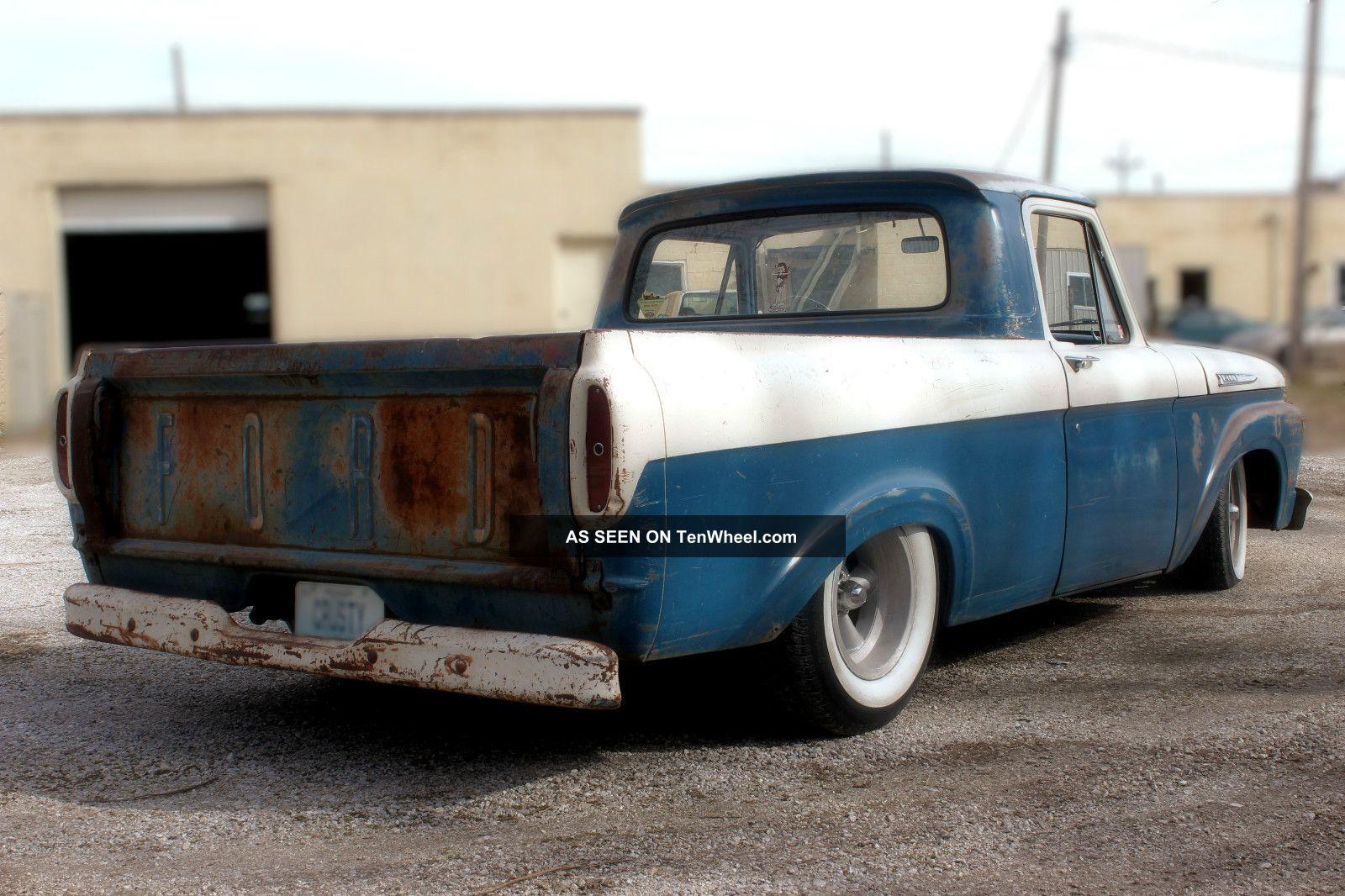1961 Ford F100 Truck Shortbed Unibody Ratrod Hot Rod Custom Pick Up F 100 Photo 3