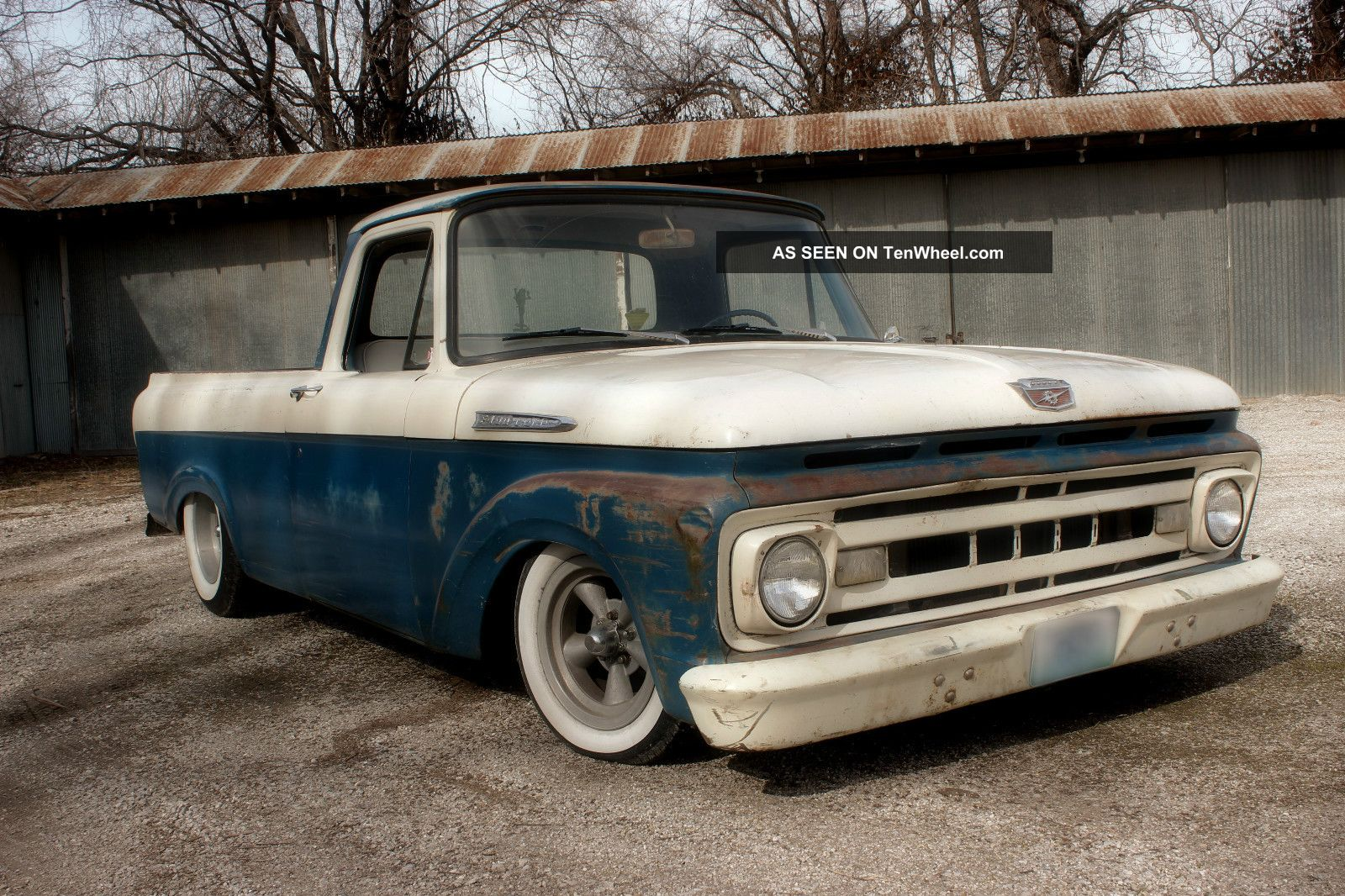 1961 Ford F100 Truck Shortbed Unibody Ratrod Hot Rod Custom Pickup F 100 Photo 4
