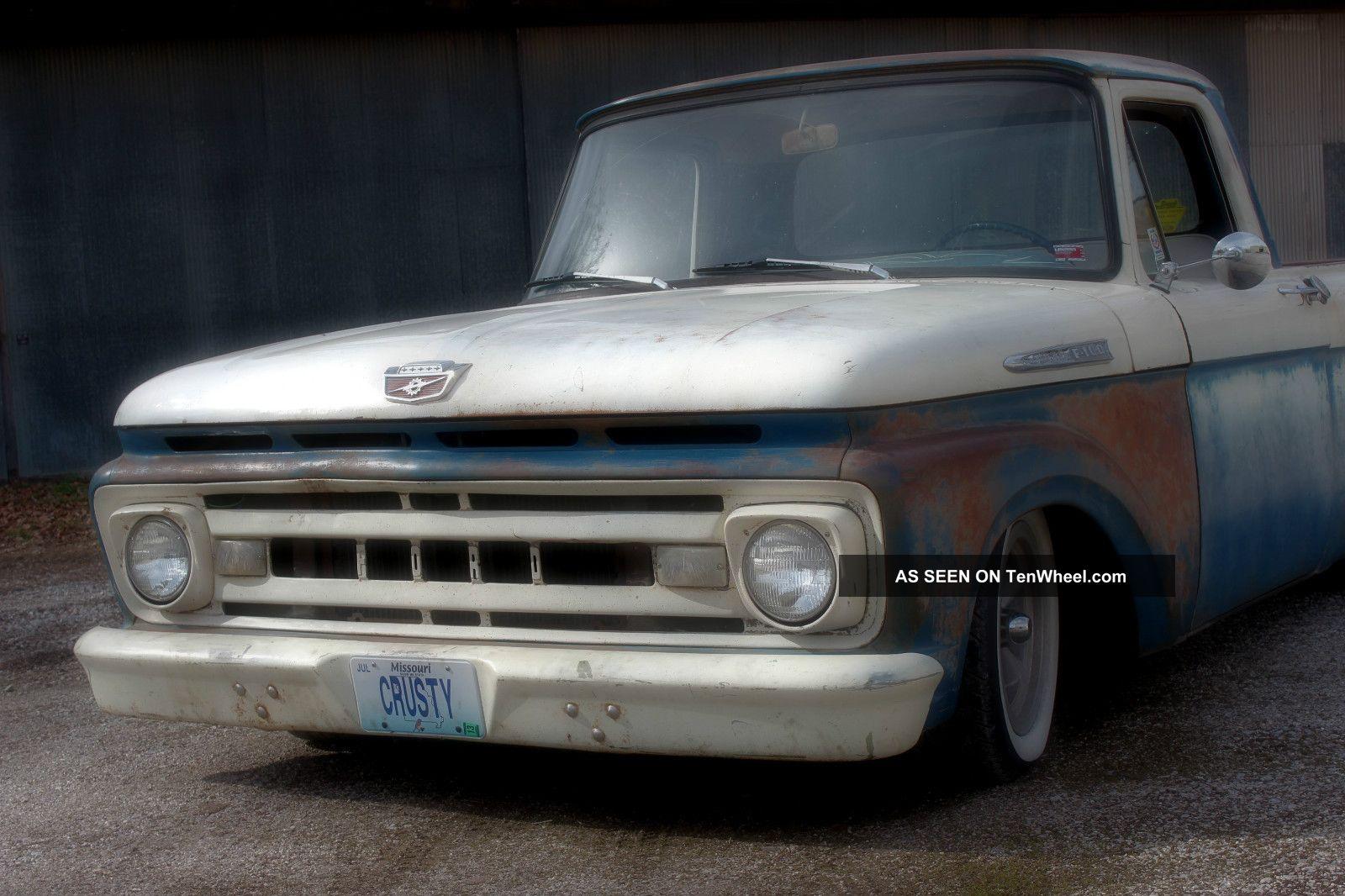 1961 Ford F100 Truck Shortbed Unibody Ratrod Hot Rod Custom Pick Up F 100 Photo 6