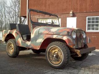 1956 Willys 4 Wd Cj5 Jeep 130 Cu.  I.  3 Speed Standard Runs & Drives photo