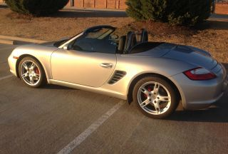2007 Porsche Boxster S; 38,  000 Mi; Convertible; 3.  4l 6 Spd Manual;silver / Blak photo