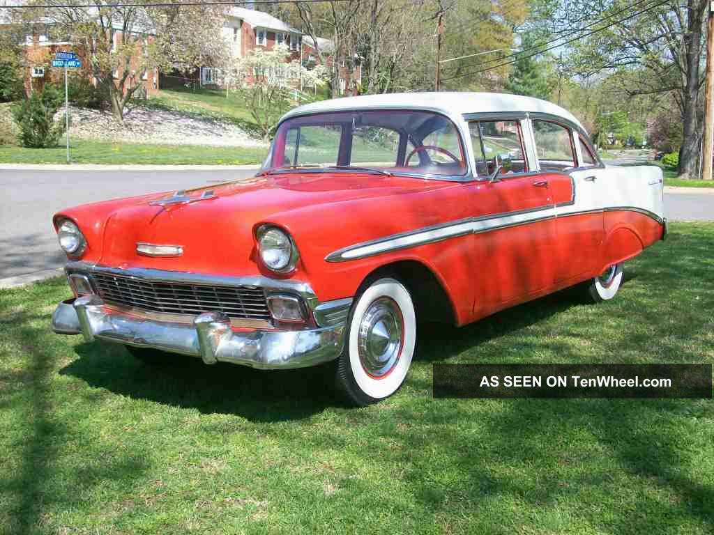 1956 chevrolet 4 door bel air sedan for 1956 chevy 4 door