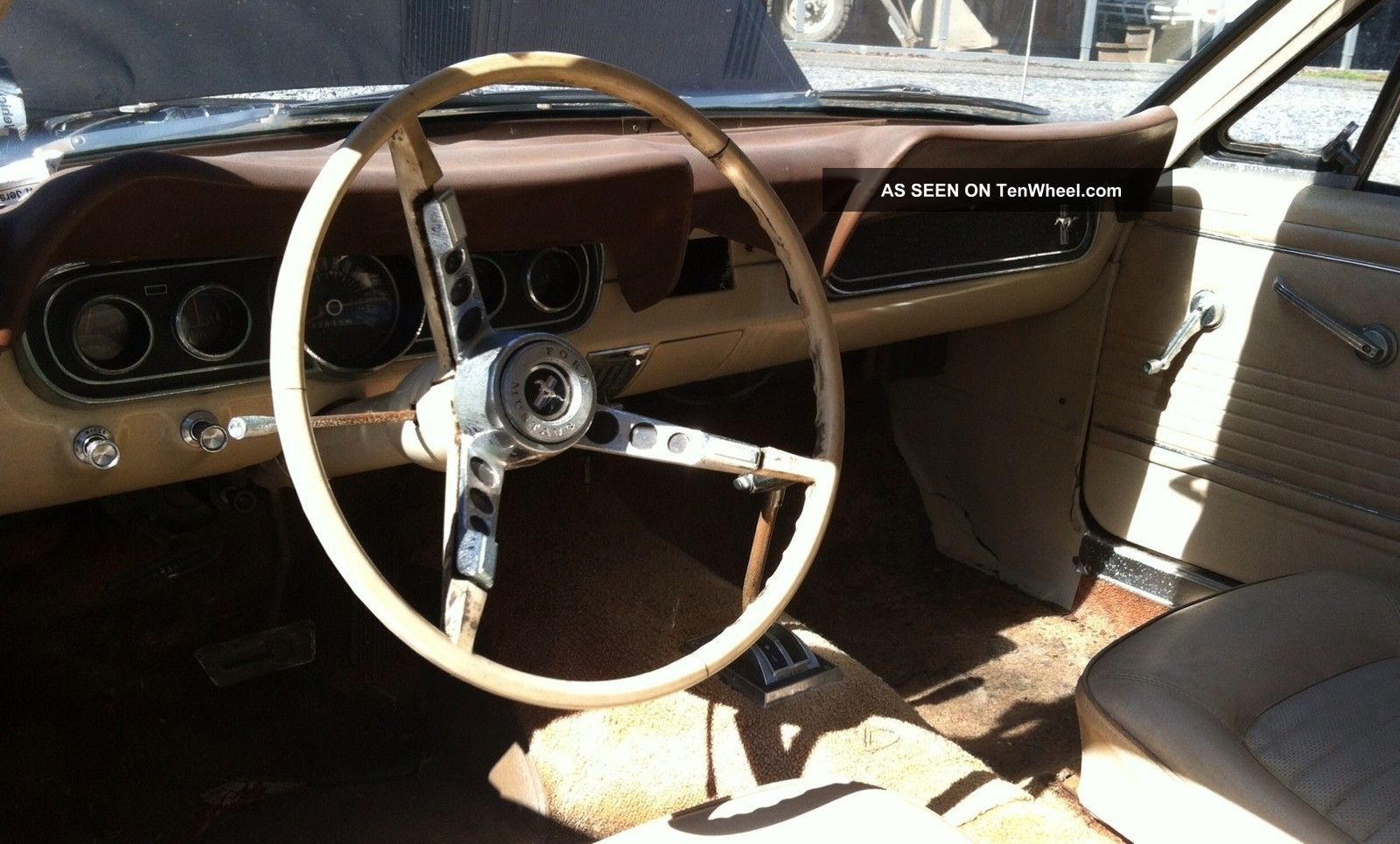 1966 Mustang Barn Find Pony Interior 6 Cylinder
