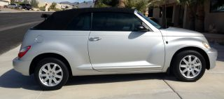 2007 Chrysler Pt Cruiser Base Convertible - Silver W / Black Interior And Soft Top photo