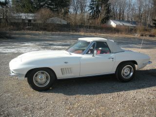 1967 Corvette Convertible Garage Find White / Red 4 - Speed Project photo