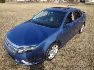 2010 Ford Fusion Sport_3.  5l_moon_lhtr_rear Spoiler_bckup Snrs_rebuilt_no Reserve photo
