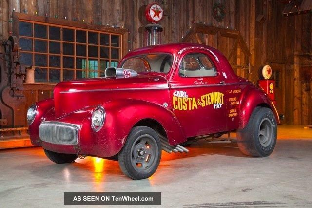 1941 Willys Steel Costa / Stewart Gasser Coupe,  Real Deal Time Capsule,  Blown Hemi Willys photo