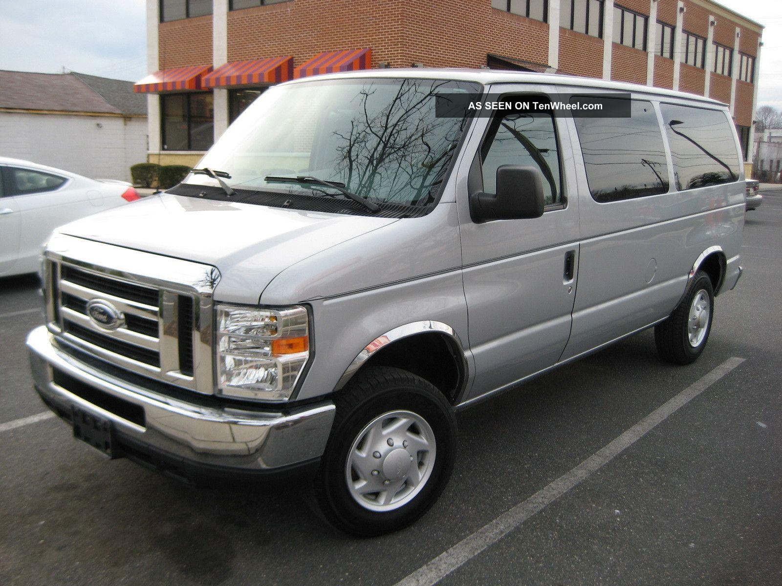 2008 Ford E - 150 Xlt 9 Pass Van V8 - 5.  4l,  Park Assist 97k Mi,  1 Md Owner E-Series Van photo