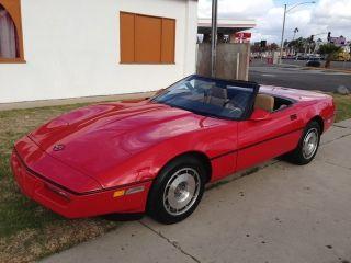 1987 Corvette Convertible.  California. photo
