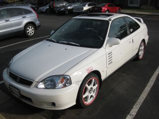 Honda Civic 2000 2dr Coupe Taffeta White photo