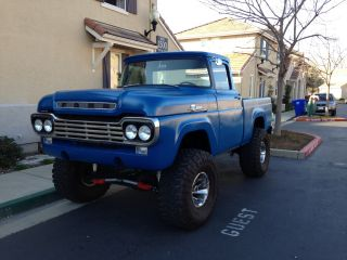 Custom 1959 Ford F100 4x4 5.  8 Efi V8,  Auto,  Bronco Chassis photo