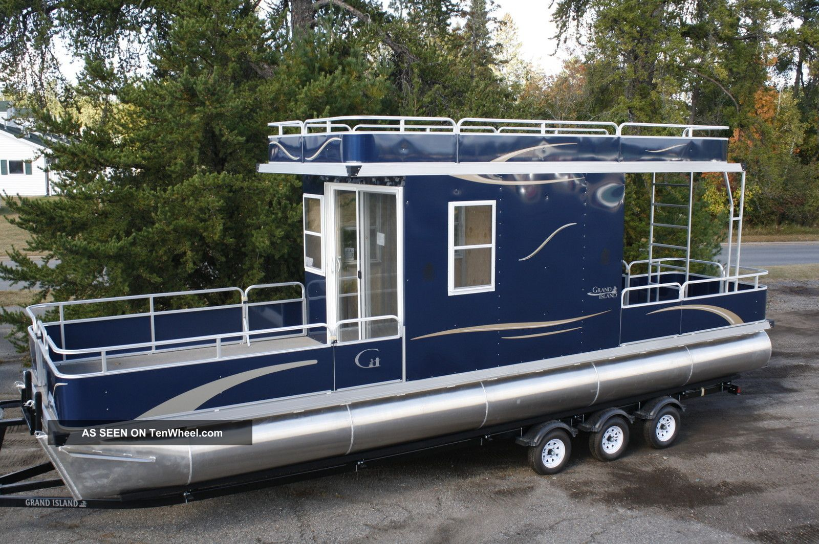 2013 grand island 32 house boat pontoon deck boats photo 11