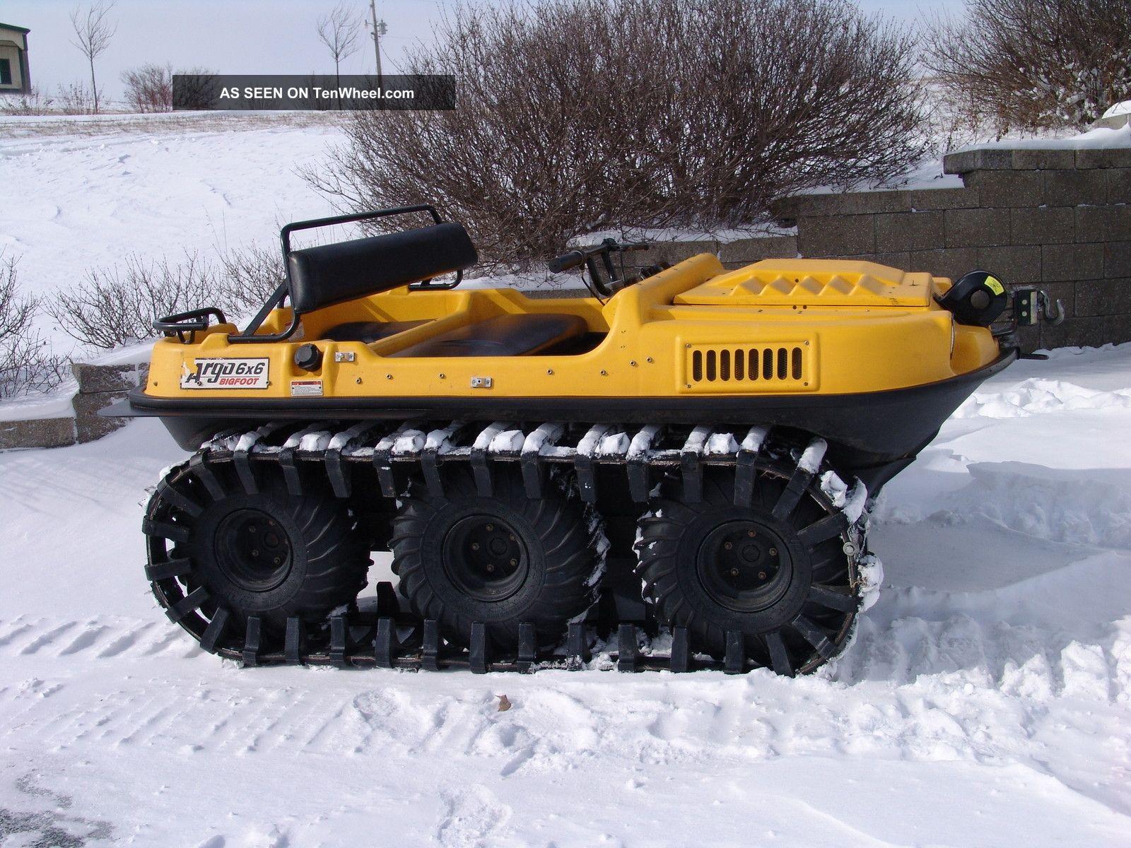 Argo Bigfoot 6x6 Amphibious Atv With Extended Snow Tracks Type
