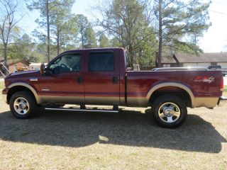 2005 Ford F - 250 Duty Lariat Crew Cab Pickup 4 - Door 6.  0l Loaded Euc photo