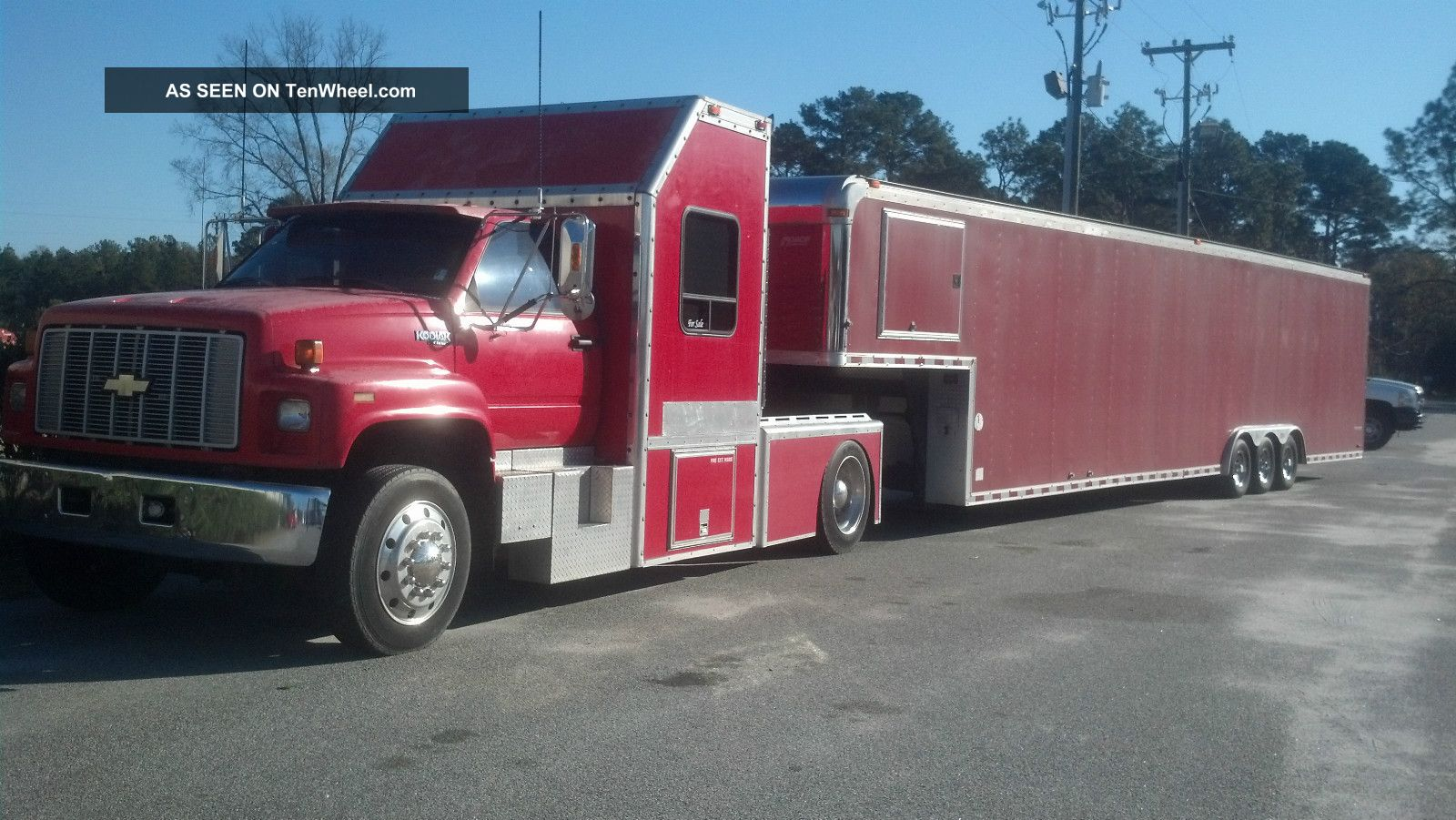 1991 Gmc Kodiac With 44 ' Car Hauler. . .  Bought From Dale Earnhardt Senior In 1999 Other Pickups photo