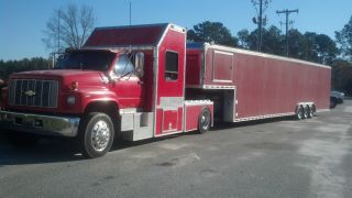 1991 Gmc Kodiac With 44 ' Car Hauler. . .  Bought From Dale Earnhardt Senior In 1999 photo