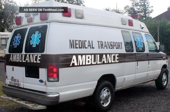 1999 Ford E - 350 Econoline Xl Extended Cargo Van 2 - Door 7.  3l Ambulance E-Series Van photo