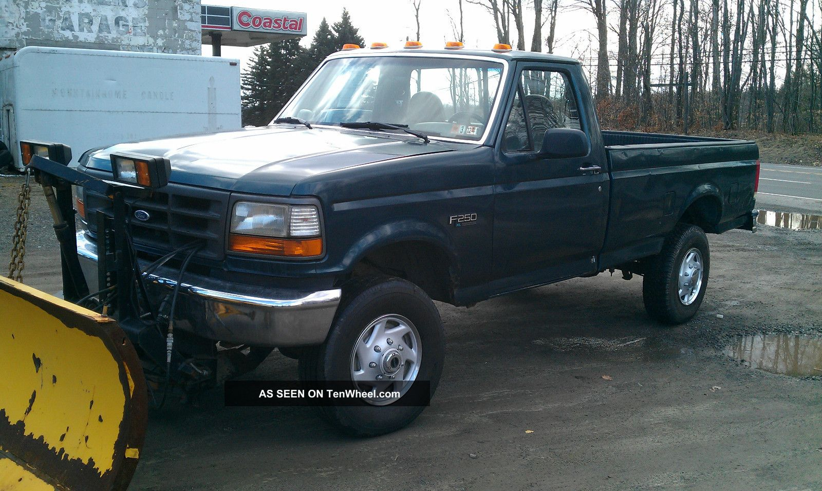 1996 ford f 250 ford 4wd truck with plow. Black Bedroom Furniture Sets. Home Design Ideas