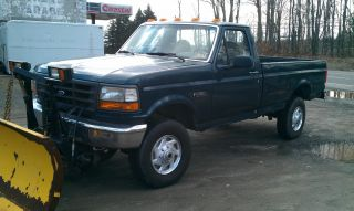 1996 Ford F - 250 Ford 4wd Truck With Plow photo