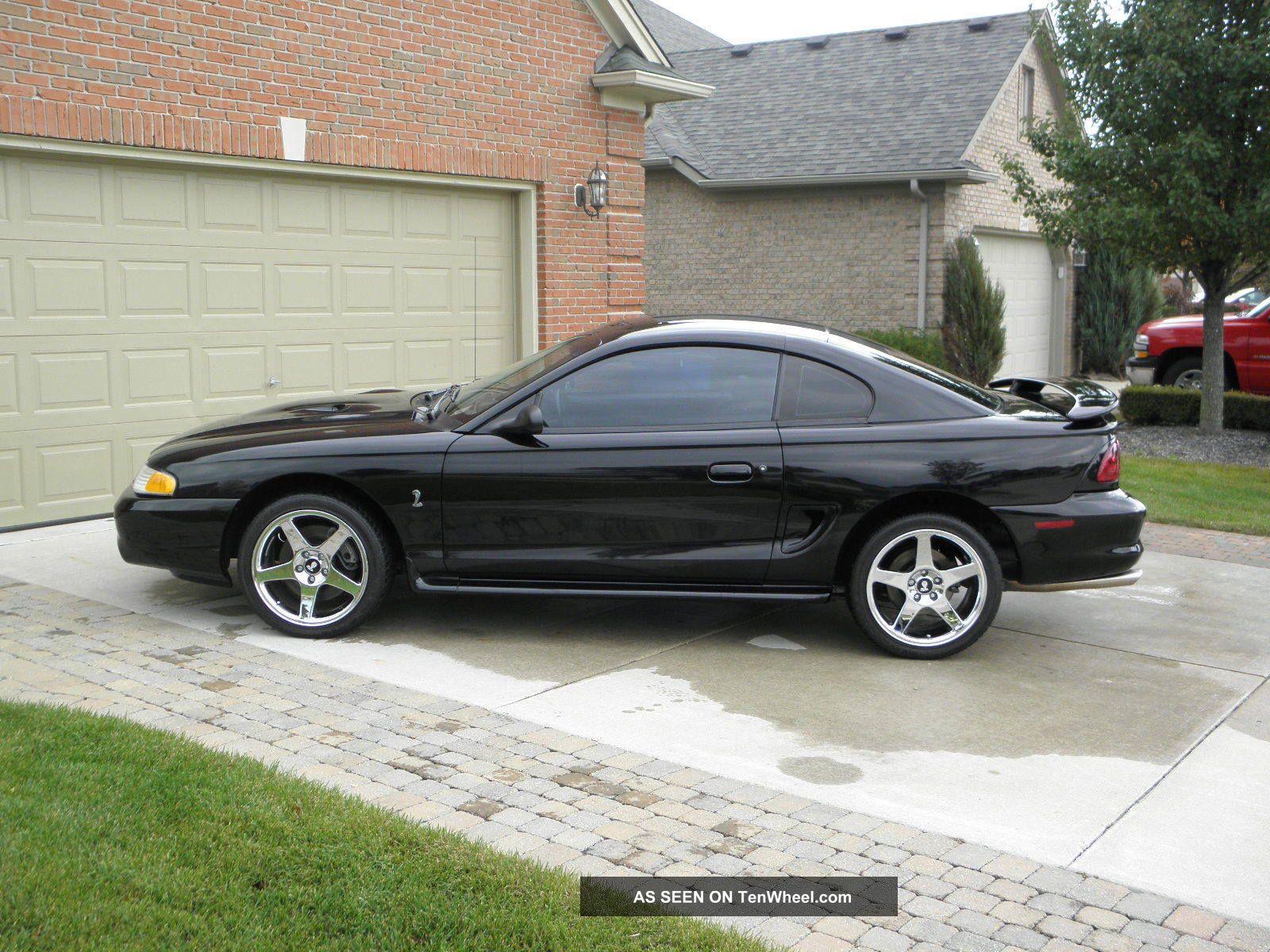 1997 ford mustang cobra black on black chrome 18 cobra r wheels