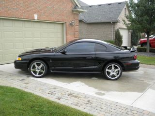 1997 Ford Mustang Cobra,  Black On Black,  Chrome 18 ' Cobra R Wheels photo