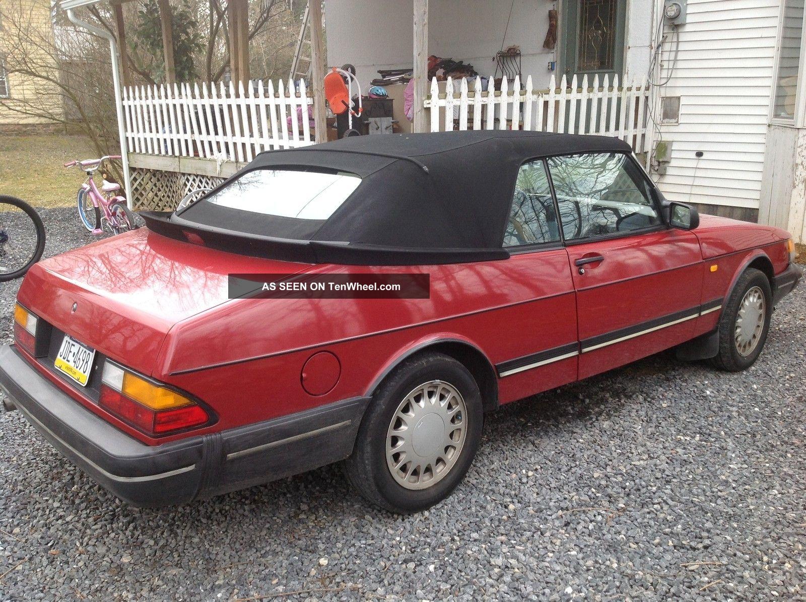 1989 saab 900 turbo convertible 2 door 2 0l. Black Bedroom Furniture Sets. Home Design Ideas