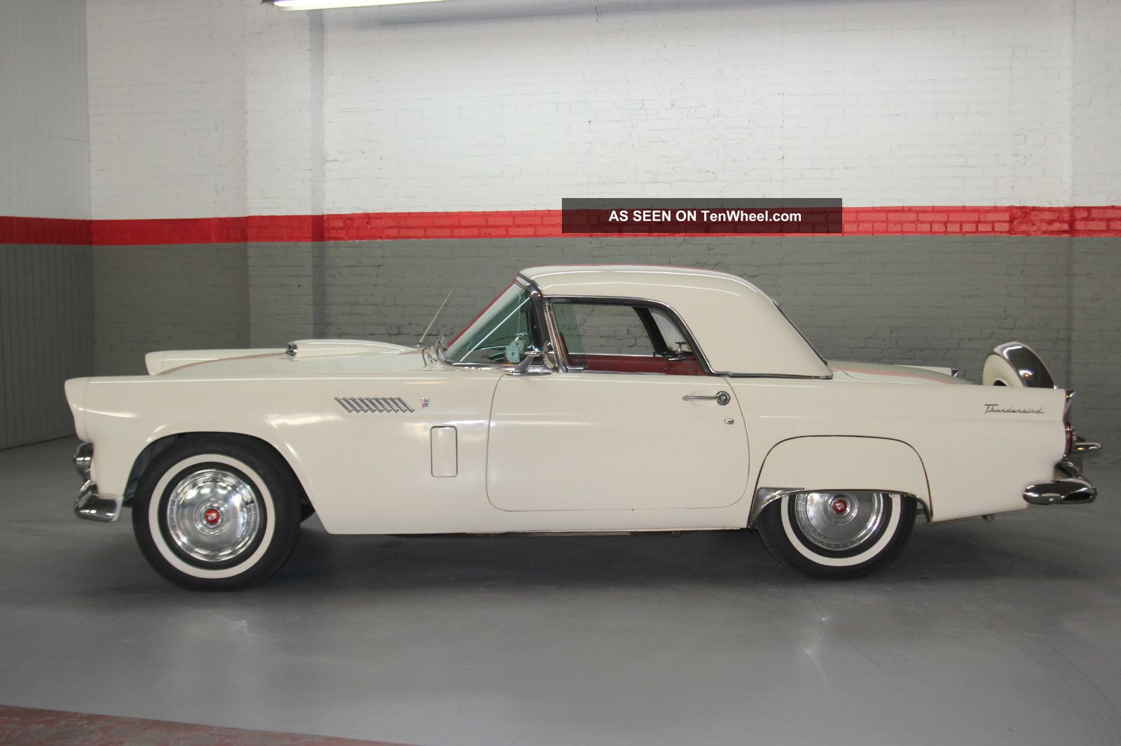 1956 Ford Thunderbird Both Hard And Soft Tops & Continental Kit - Colonial White Thunderbird photo