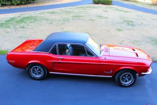 1968 Mustang. . . .  Great Candy Apple Red Paint. . . .  No Rust Problems photo