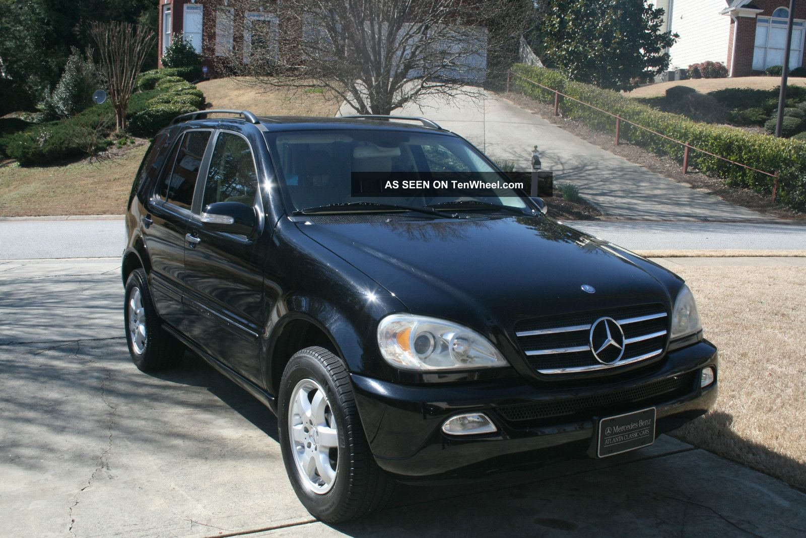 2005 mercedes ml500 black tan books records nr