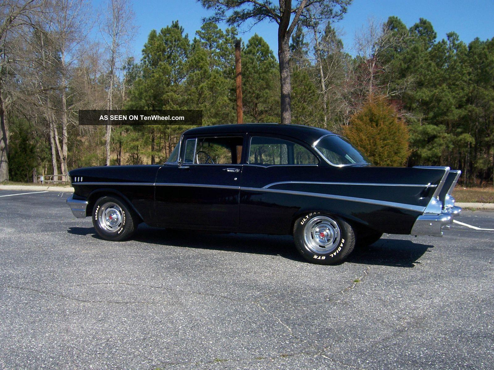 1957 chevrolet 210 belair 2 door v8 283 chrome interior for 1957 chevy 210 2 door