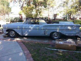 1958 Chevrolet Impala Convertible Project Metal Work Done 348 Tri Power Motor photo