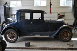 1924 Buick Model 24 - 48 6 Cyl Opera Coupe Hpof Texas Barn Car Time Capsule photo