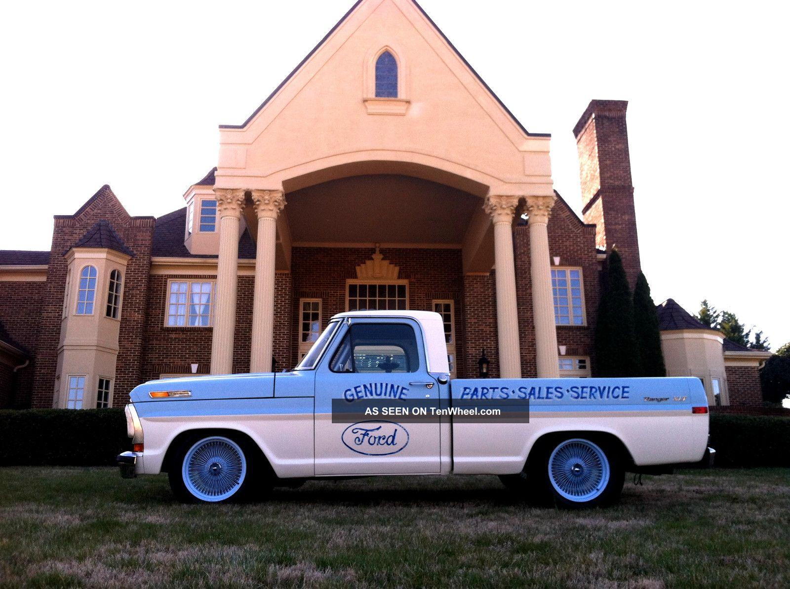 1971 Ford F 100 Ranger Xlt Short Bed Hot Rod Lowered Slammed F100 For Sale