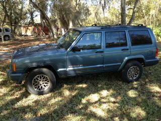 1999 Jeep Cherokee Limited Sport Utility 4 - Door 4.  0l Patriot Blue photo