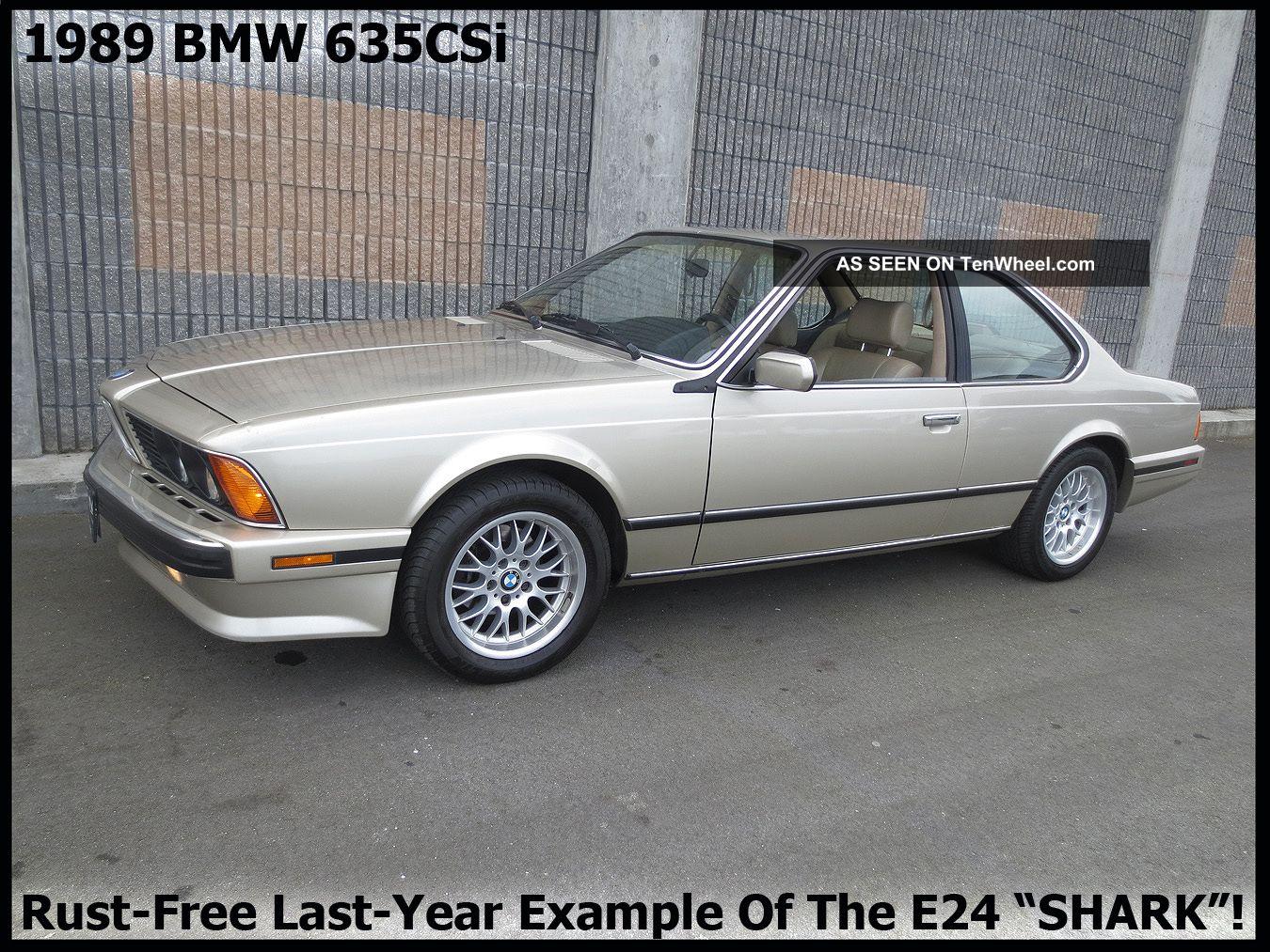++rare Classic 1989 Bmw 635csi E24