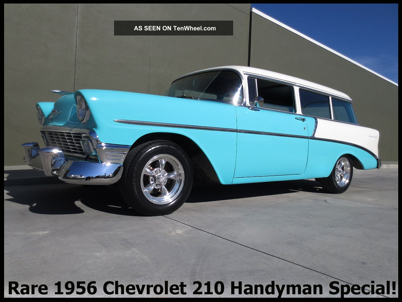 +rare Classic 1956 Chevrolet 210 Handyman Special Rust - Ca.  Two - Door Wagon + Bel Air/150/210 photo