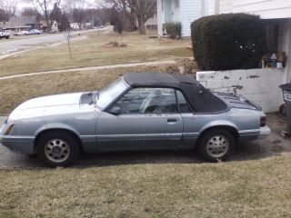 1986 Ford Mustang Lx / Gt Convertible 2 - Door 3.  8l photo