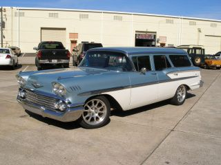 1958 Chevrolet Nomad Wagon Resto - Mod Tuned Port Injection 350,  Disc Brakes, photo