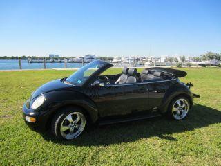 2005 Volkswagen Beetle Gls Convertible: Black On Black With 18