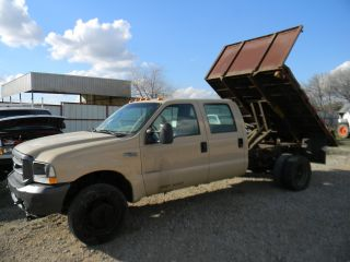 2004 Ford F - 450 Crew Cab Xl 6.  0l Powerstroke Flatbed Dump Truck Non Runner photo