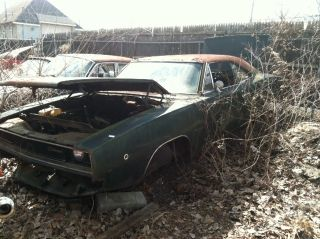1968 Dodge Charger R / T 426 Hemi Column Shift 8 3 / 4 Theft Recovery Wow photo