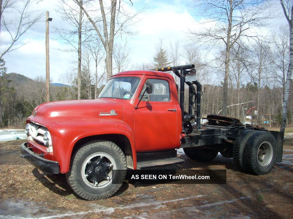 ford  f800  road tractor  1955  big job  winch  solid working truck  antique rare rig honda big red 250 service manual honda big red 1984 service manual