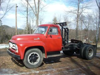 Ford,  F800,  Road Tractor,  1955,  Big Job,  Winch,  Solid Working Truck,  Antique - Rare Rig photo