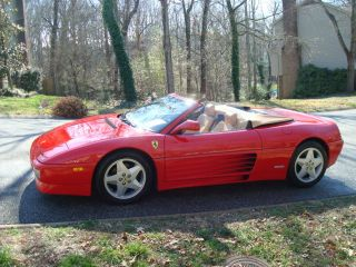 Ferrari 348 Spider Red Tan Interior 1994 3.  4l V8 Convertible photo