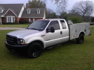 2002 Ford F350 7.  3 Powerstroke Diesel Service Bed photo