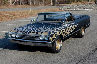 Old School Hot Rod Style 1967 El Camino ' S Matching 283 Ps P / Disc A / C Sweet photo