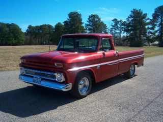 1966 Chevy C10 Longbed 383 V8 Th 350 Automatic 12 Bolt W / 373 Gears photo