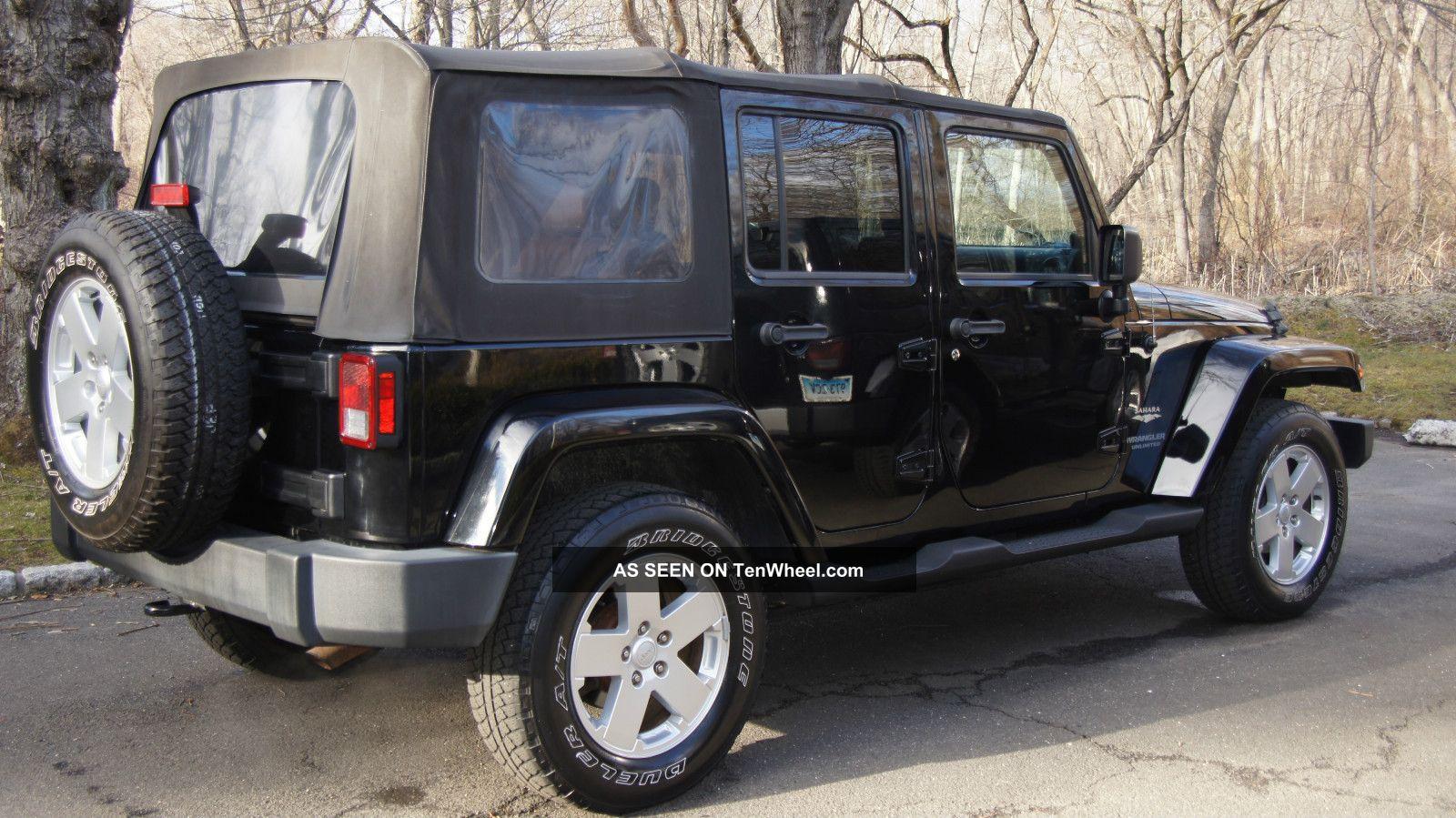 2007 jeep wrangler unlimited sahara sport utility 4 door 3 8l black automatic. Black Bedroom Furniture Sets. Home Design Ideas